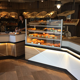 Agencement de boulangeries en France